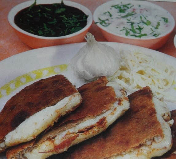 Cheese Garlic Paratha