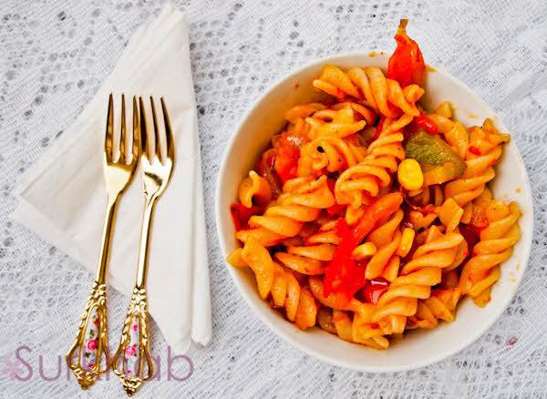 P5260695 Italian Pasta Recipe | Pasta With Sweet Corn | Delicious Pasta