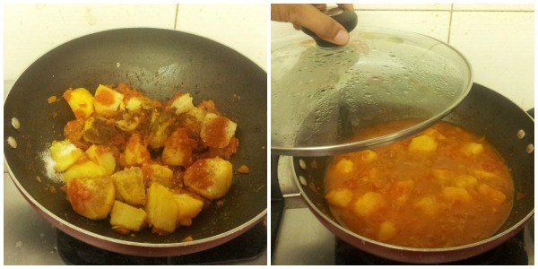 Potato curry step 4