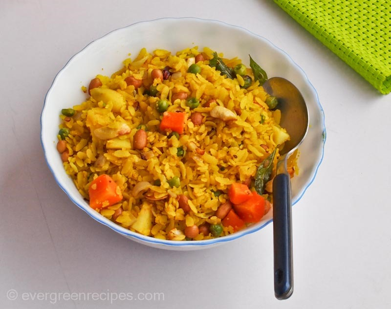 Mixed Vegetable Poha