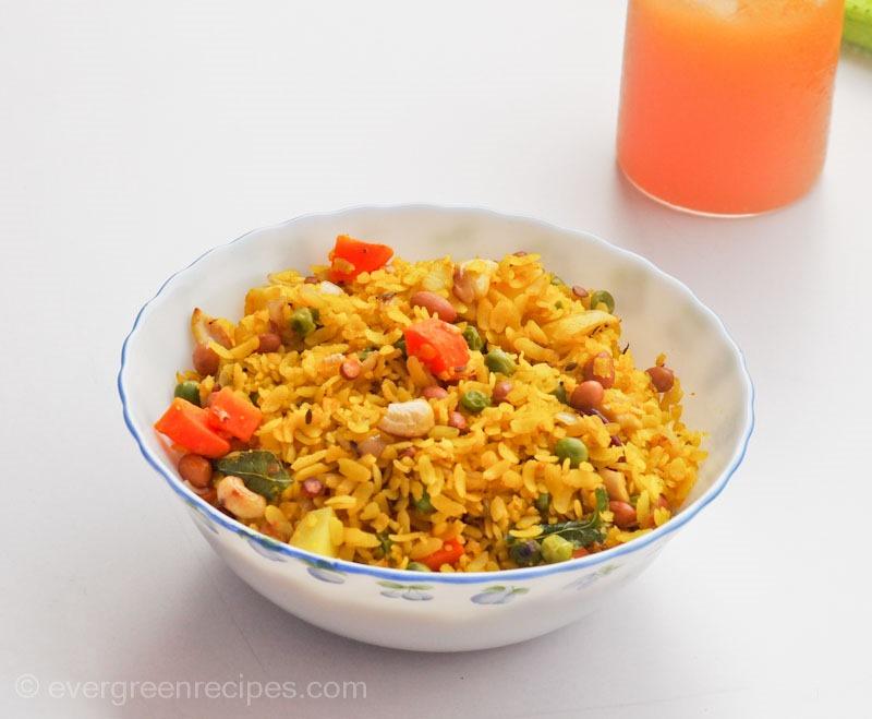 Mixed Vegetable Poha