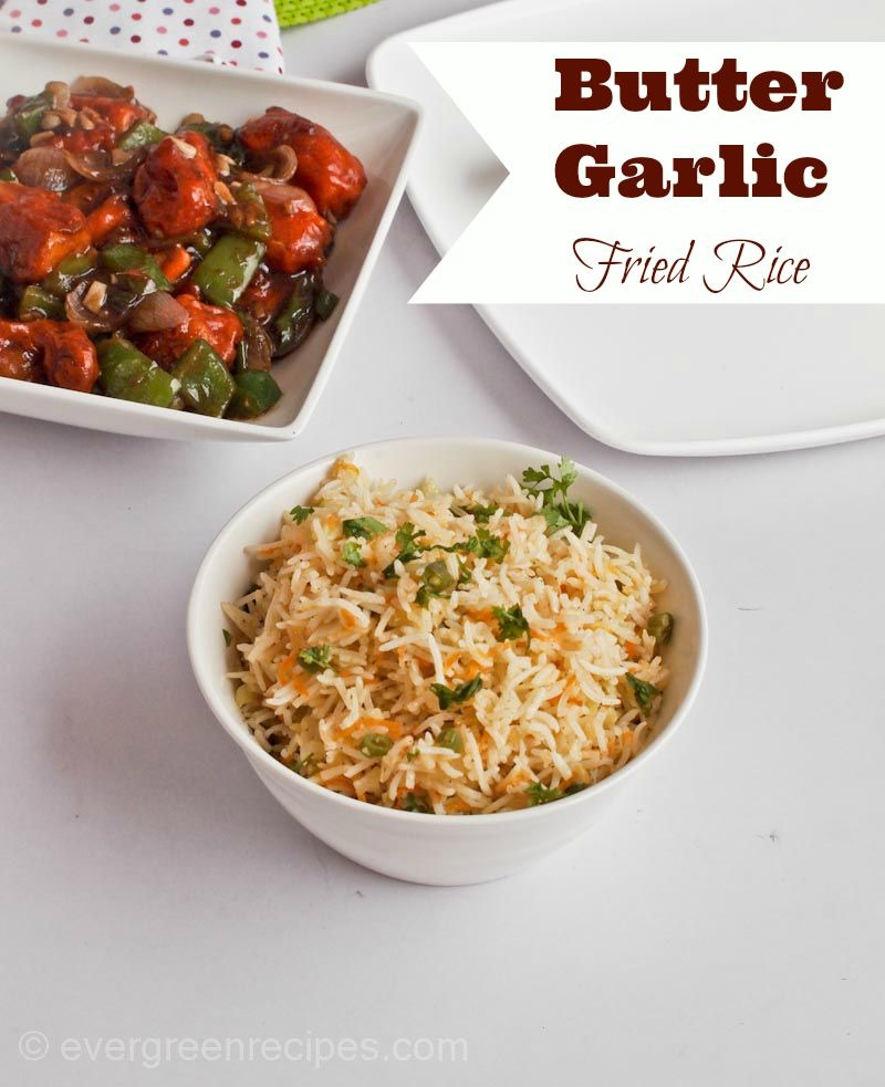 Butter garlic fried rice how to make fried rice here is the recipe of butter garlic rice i prepared along with chilli paneer a super combination for people who love fried rice ccuart Image collections
