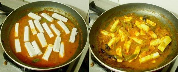 पनीर पकाने की विधि जालफरेजी चरण 6