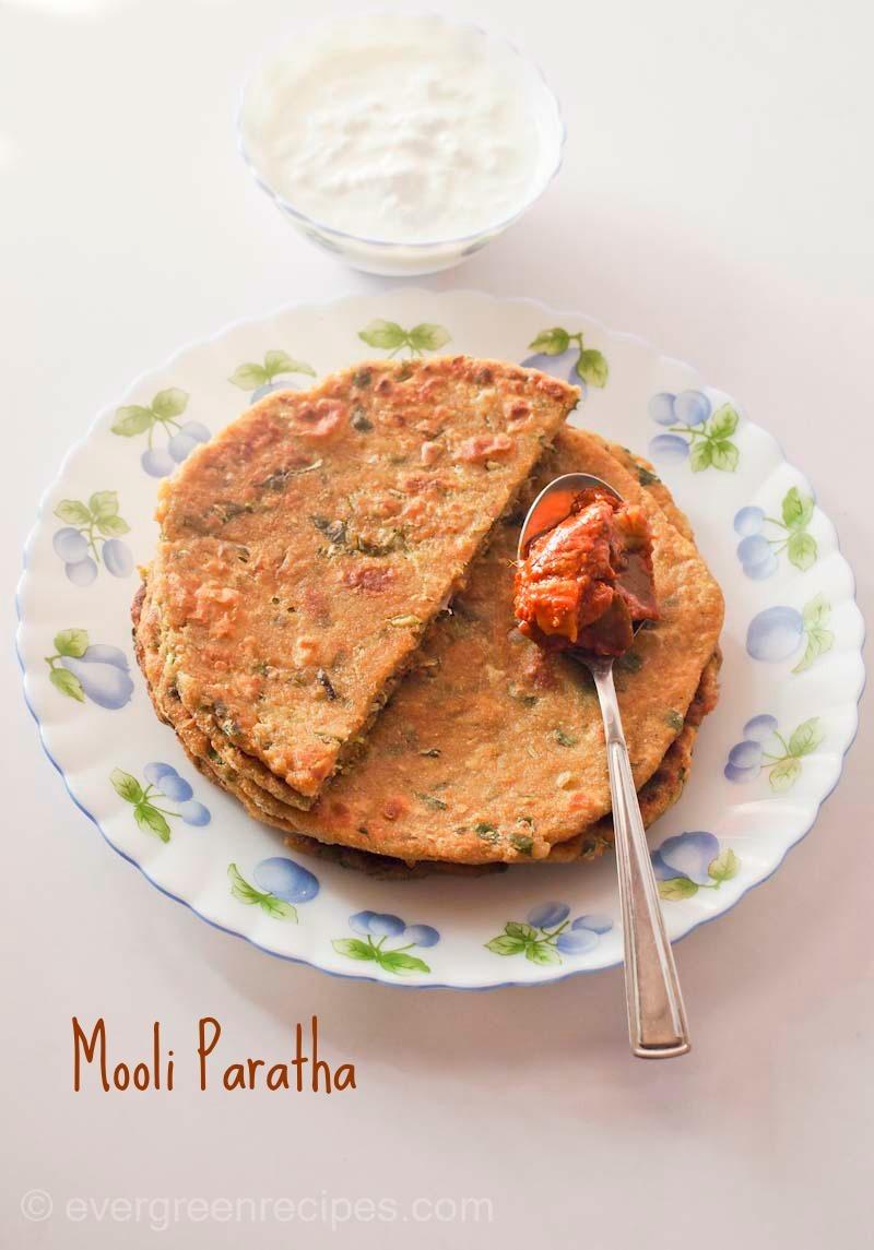Mooli (Radish) Paratha Recipe| How To Make Mooli Paratha