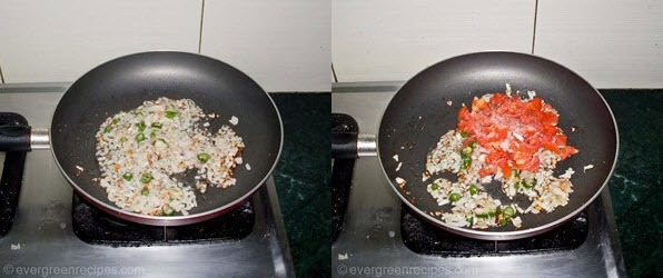 Tomato  Rava Upma Recipe Step 3